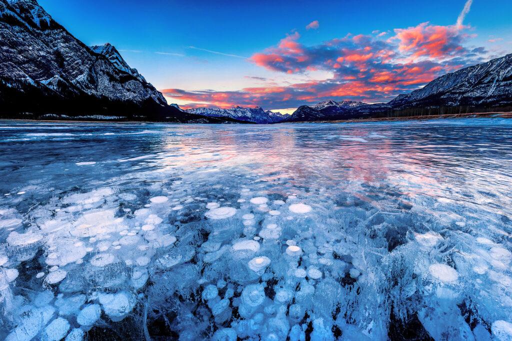 Bubble Lake / Abraham Lake