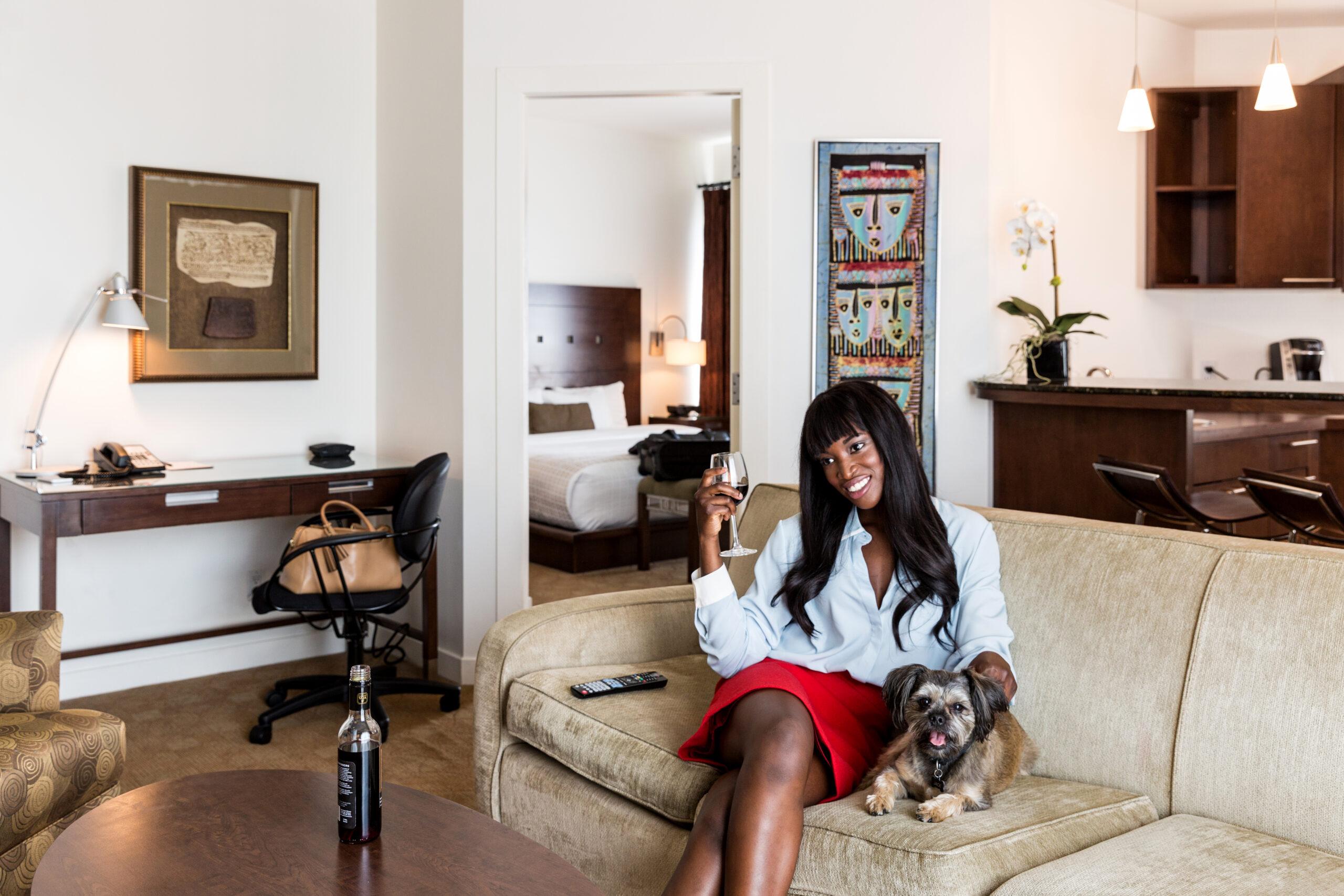 Een kamer in het Metterra Hotel on Whyte